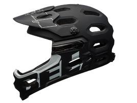 Bell Super 3R Helmet Mat Black / White 2017
