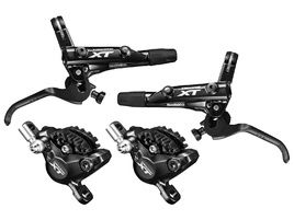 Shimano XT M8000 disc brake set black without rotor and adapter 2019