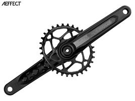 Race Face Aeffect Cinch mono Direct Mount crankset + Absolute Black oval ring black 2018