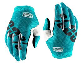 100% iTrack Teal Blue Gloves 2018