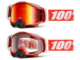 100% Racecraft Goggle Fire Red 2018