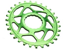 Absolute Black Oval Narrow Wide Direct Mount chainring Race Face Green 2018