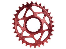 Absolute Black Oval Narrow Wide Direct Mount chainring for Race Face Red 2018