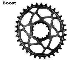 Absolute Black Oval Narrow Wide Direct Mount Chainring for Sram Boost Black 2018