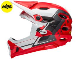 Bell Super DH MIPS helmet Red / White / Black 2018