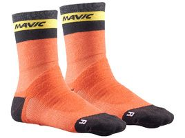 Mavic Ksyrium Elite Thermo Socks Orange 2018