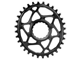 Absolute Black Oval Narrow Wide Direct Mount chainring for Race Face Black 2018