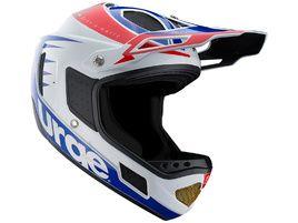 Urge Down-o-matic RR Helmet White-Red-Blue 2016