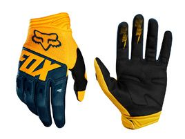 Fox Dirtpaw Gloves Yellow and Blue 2018