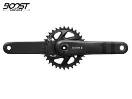 Sram X1 Carbon Eagle DUB Boost 32T 1x12s crankset - 175 mm - Black