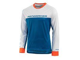 Mondraker Enduro Roust Long Sleeve Jersey White and Blue 2020