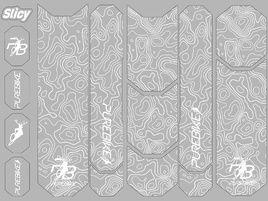 Slicy Kit de protections Sublimistick PureBike (12 patches) - Blanc