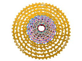 KCNC Master MTB 12 speed cassette Gold / Rainbow - 9-52 Teeth 2020