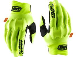 100% Cognito D3O Gloves Fluo Yellow/Black 2020