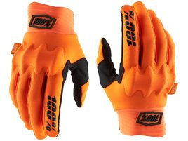 100% Cognito D3O Gloves Orange/Black 2020