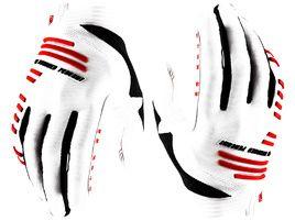 100% R-Core Gloves White 2020