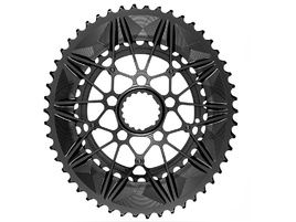 Absolute Black Spidering Road Oval Chainring Set for Cannondale 2020