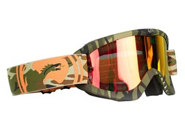 Dragon MDX Goggle Camo Ionized Red lens + clear lens