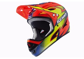 Kenny Down Hill Helmet Orange and Neon Yellow 2017