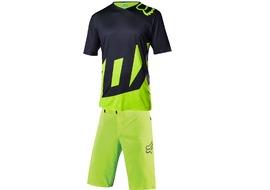 Fox Attack Short Sleeve Gear Set Neon Yellow 2017