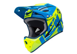 Kenny Down Hill Helmet Blue and Neon Yellow 2018