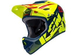 Kenny Down Hill Helmet Neon Yellow and Blue 2018