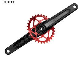 Race Face Aeffect Cinch mono Direct Mount crankset + Absolute Black oval ring Red 2018