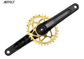Race Face Aeffect Cinch mono Direct Mount crankset + Absolute Black oval ring Gold 2018