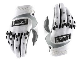 100% Airmatic Gloves - White and Black 2018