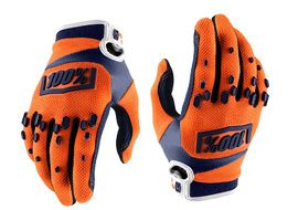 100% Airmatic Gloves - Orange and Blue 2018