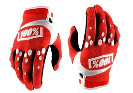 100% Airmatic Gloves - Red and White 2018