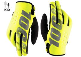 100% Brisker Youth Gloves Yellow 2020