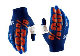 100% Celium 2 Gloves - Flash Blue and Orange 2018