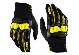 100% Deristricted Black / Yellow Gloves 2018