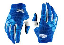 100% iTrack Gloves - Blue 2018