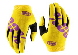 100% iTrack Fluo Yellow Gloves 2018