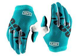100% iTrack Teal Blue Gloves 2018