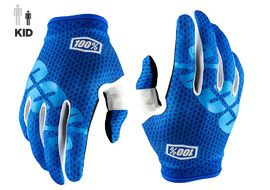 100% iTrack Youth Gloves - Blue 2018