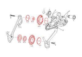Sram 11 teeth Pulleys for X9 9 speed (2007-2009)