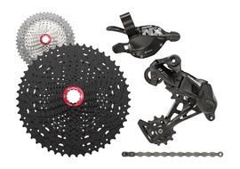 Sram NX 1X11 speed groupset with Sunrace MX8 cassette Black 2018