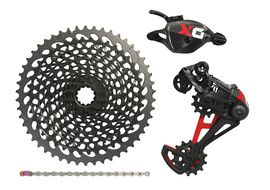 Sram X01 Eagle Groupset 1X12 speed without crankset Red 2018