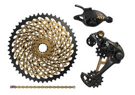 Sram XX1 Eagle Groupset 1X12 speed without crankset Gold 2018