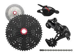 Sram GX 1X11 speed groupset with Sunrace MX8 cassette Red 2018