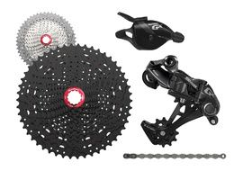 Sram GX 1X11 speed groupset with Sunrace MX8 cassette Black 2018