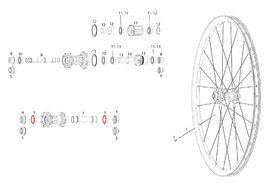 Sram Bearings for front wheel Rise 60, Roam 30 / 40, Rail 40