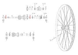 Sram Bearings for rear wheel Rise 60, Roam 30 / 40, Rail 40