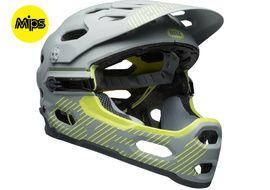 Bell Super 3R MIPS helmet Grey / Yellow 2018
