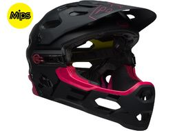 Bell Super 3R MIPS helmet  Black / Cherry 2018