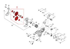 Shimano Pulleys for Saint M820 10 speed rear derailleur