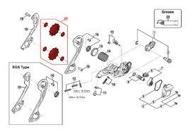Shimano Pulleys for SLX M663 / M670 / M675, Zee M640 10 speed rear derailleur